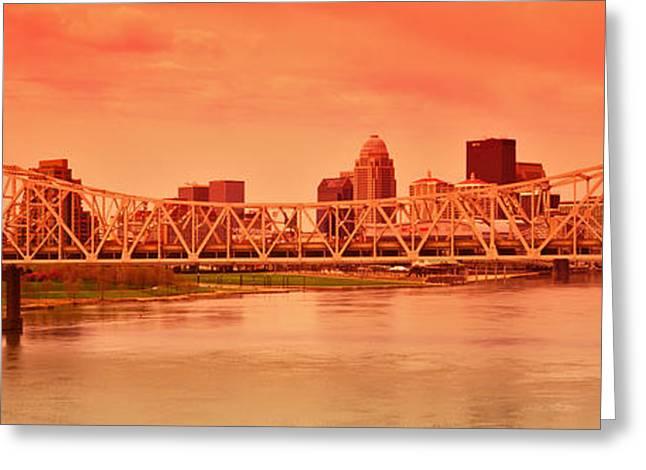 Bridge Across A River, John F. Kennedy Greeting Card