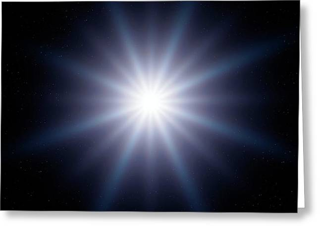 Bright Star In Space Greeting Card