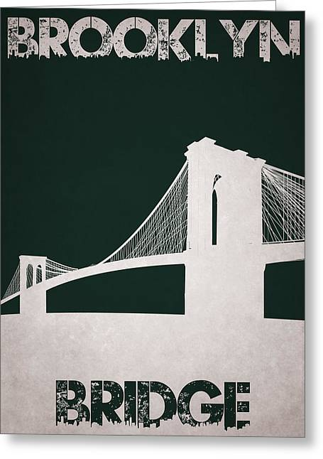 Brooklyn Bridge Greeting Card by Joe Hamilton