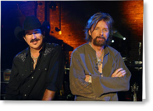 Brooks And Dunn Greeting Card by Don Olea
