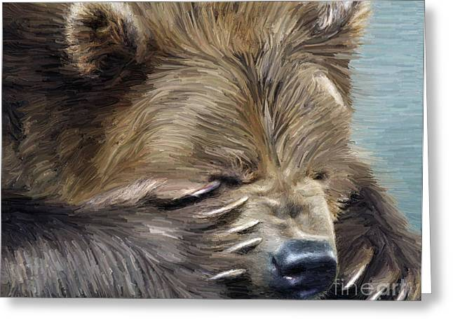 Brown Bear Greeting Card by Aleksey Tugolukov
