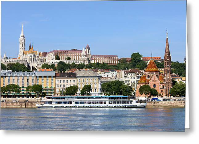 Budapest Cityscape Greeting Card by Artur Bogacki