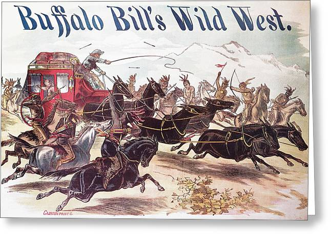 Buffalo Bill Poster, 1893 Greeting Card by Granger
