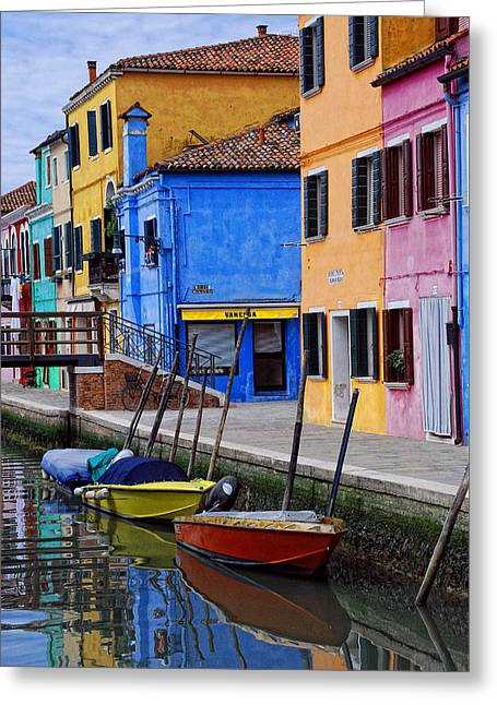 Burano  Italy Greeting Card by Elaine Walsh