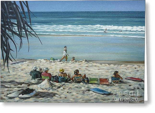 Burleigh Beach 220909 Greeting Card by Selena Boron