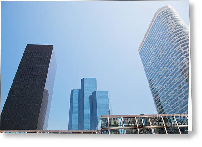 Business Skyscrapers. Greeting Card