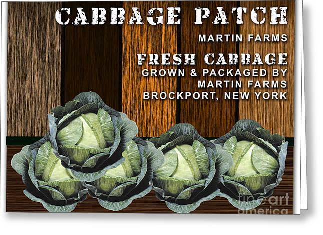 Cabbage Farm Greeting Card by Marvin Blaine