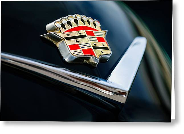 Cadillac Emblem Greeting Card by Jill Reger