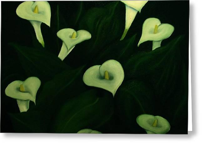 Calla Lilies Greeting Card by John Stuart Webbstock