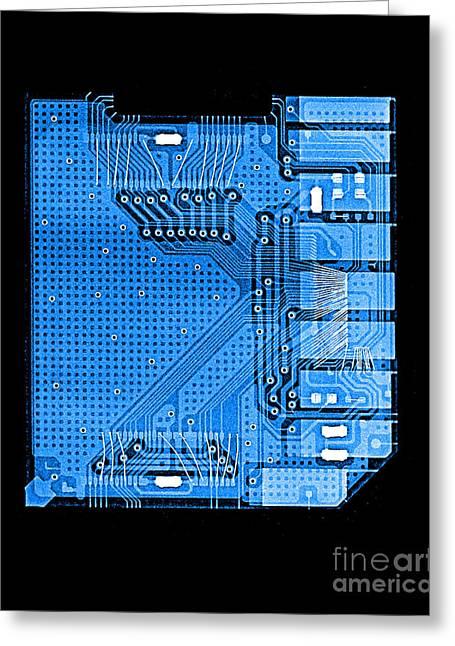 Camera Memory Chip X-ray Greeting Card by Bert Myers