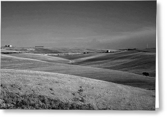 Tarquinia Landscape Campaign With Aqueduct Greeting Card