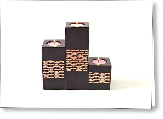 Candle Holders Greeting Card