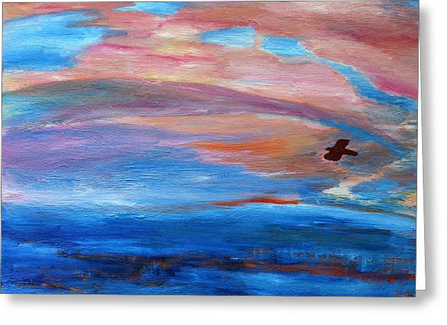 Greeting Card featuring the painting Cape May Sunset by Vadim Levin