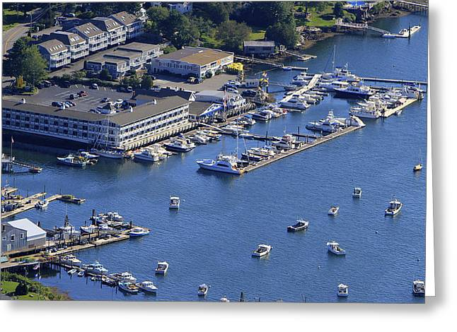 Carousel Marina, Boothbay Harbor Greeting Card