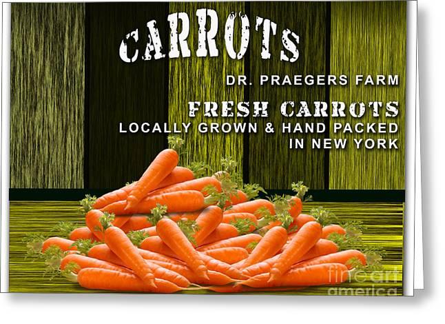 Carrot Farm Greeting Card by Marvin Blaine