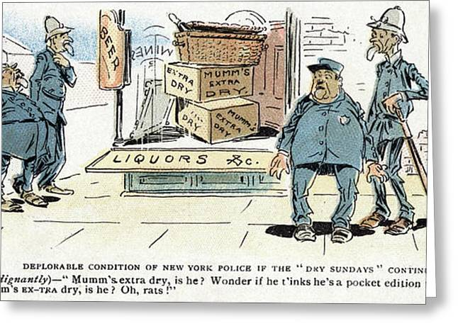 Cartoon Blue Laws, 1895 Greeting Card by Granger