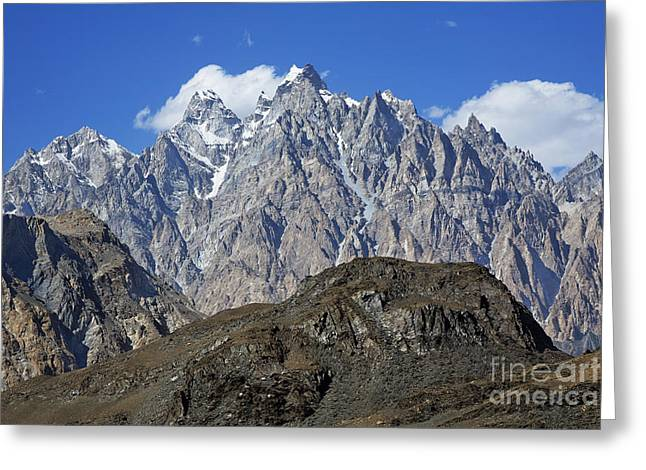 Cathedral Spires Mountain Peaks Greeting Card by Robert Preston