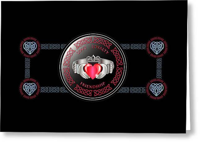 Celtic Claddagh Ring Greeting Card by Ireland Calling