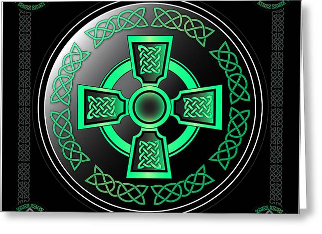 Celtic Cross Greeting Card by Ireland Calling