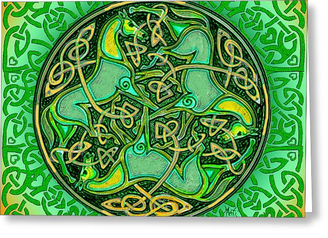 3 Celtic Irish Horses Greeting Card