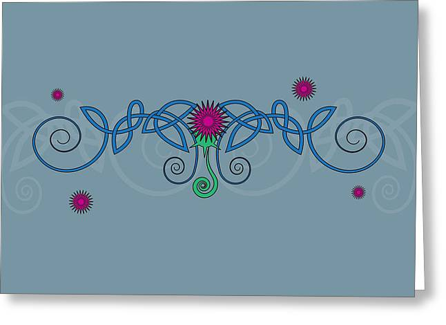 Celtic Thistle Greeting Card