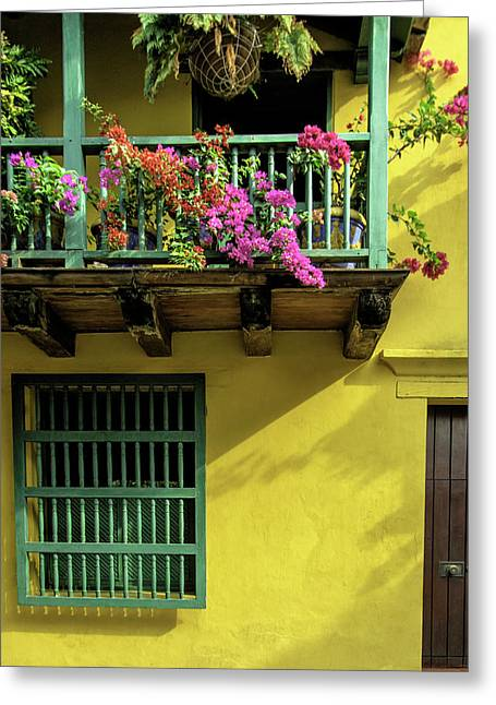 Charming Spanish Colonial Architecture Greeting Card