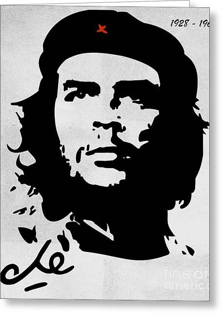 Che Guevara Greeting Card by T Lang
