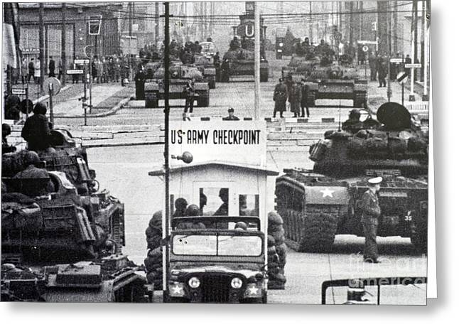 Checkpoint Charlie Greeting Card