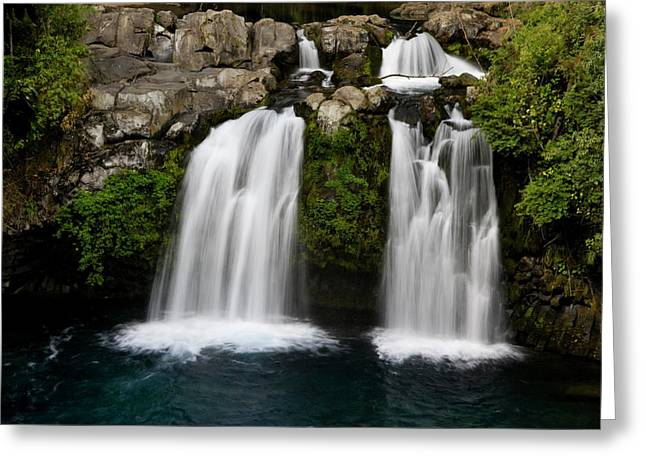 Chile South America Waterfalls At Ojos Greeting Card by Scott T. Smith