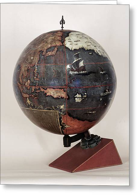 Chinese Terrestrial Globe Greeting Card by British Library