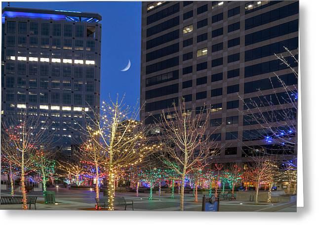 Christmas In Salt Lake City Utah Greeting Card by Utah Images