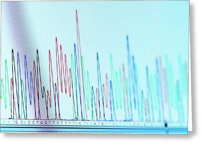 Chromatogram Greeting Card