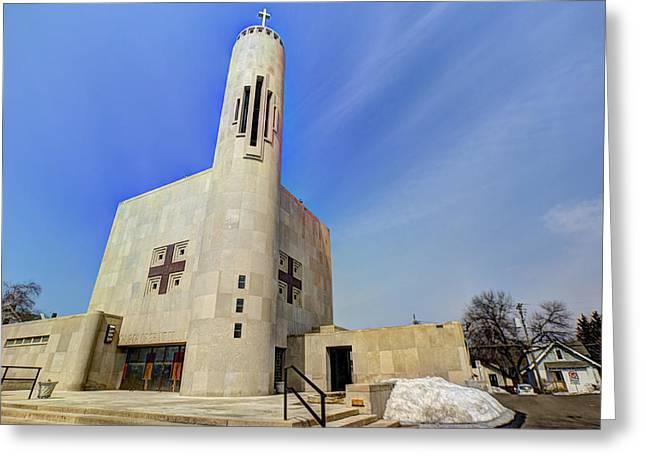 Church Of Saint Columba Greeting Card by Amanda Stadther