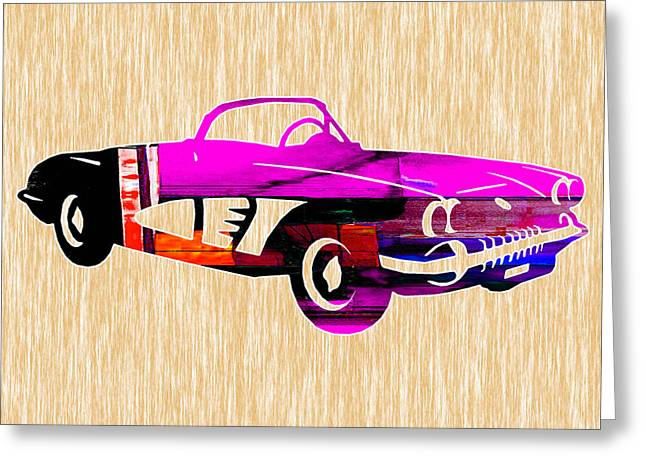 Classic Corvette Greeting Card by Marvin Blaine