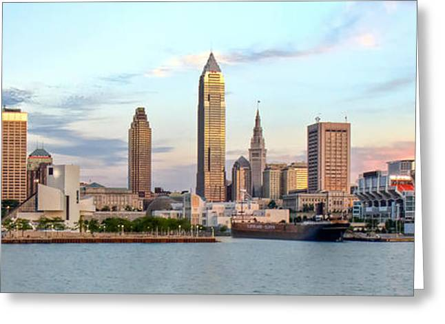 Cleveland Skyline Greeting Card by Brent Durken