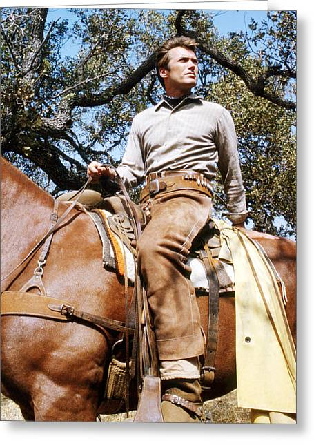 Clint Eastwood In Rawhide  Greeting Card by Silver Screen