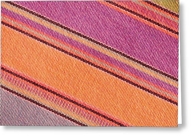 Colorful Cloth Greeting Card by Tom Gowanlock