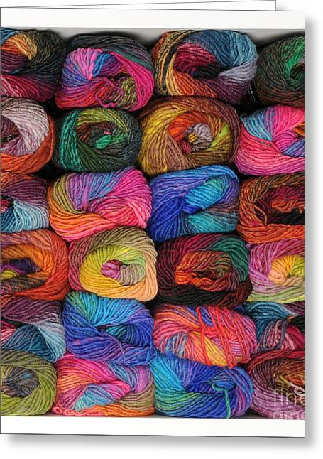 Colorful Knitting Yarn Greeting Card