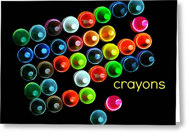 Colorful Wonderful Crayons Greeting Card by Diana Angstadt
