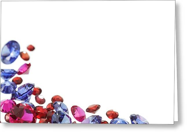 Colourful Gemstones Greeting Card by Science Photo Library