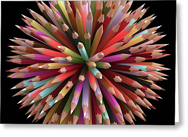 Colouring Pencils Greeting Card by Ktsdesign