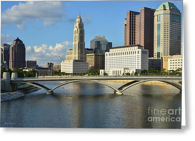 Columbus Ohio Skyline Photo Greeting Card