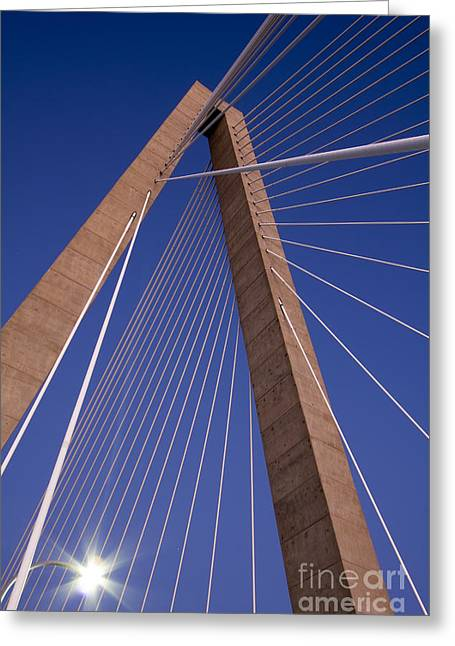 Cooper River Bridge Charleston Sc Greeting Card by Dustin K Ryan