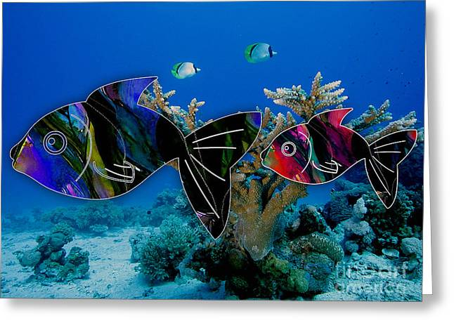 Coral Reef Painting Greeting Card