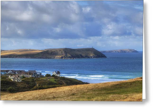 Cornwall - Polzeath Greeting Card by Joana Kruse