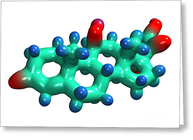 Cortisol Hormone Molecule Greeting Card by Dr. Mark J. Winter