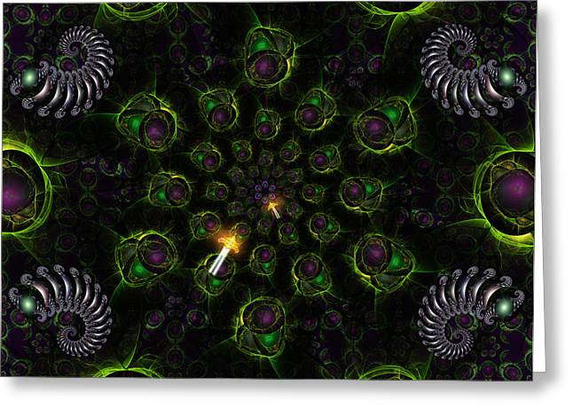Cosmic Embryos Greeting Card by Shawn Dall