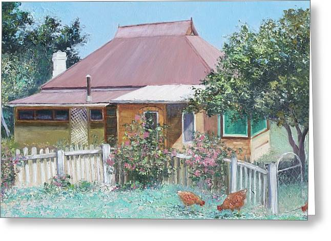 Country Cottage Greeting Card by Jan Matson