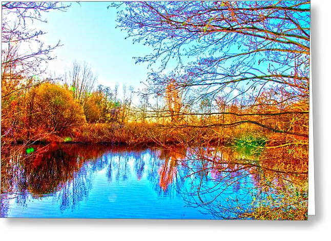 Countryside Greeting Card by Pravine Chester