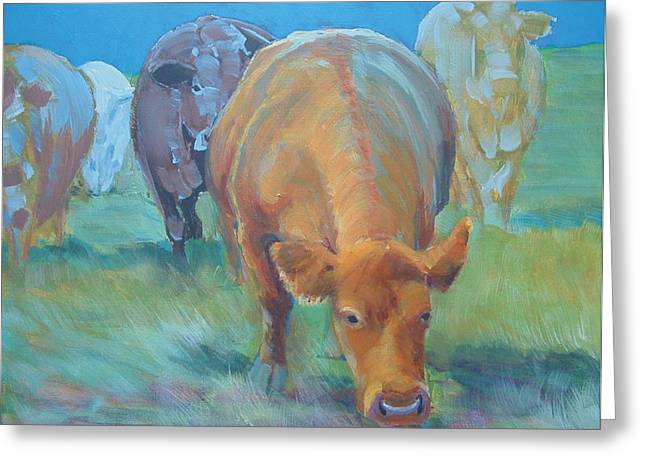 Cows  Greeting Card by Mike Jory